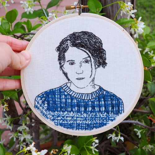 Conor Oberst by Fer's Hologram #conor oberst#fers hologram#bright eyes#fers embroidery