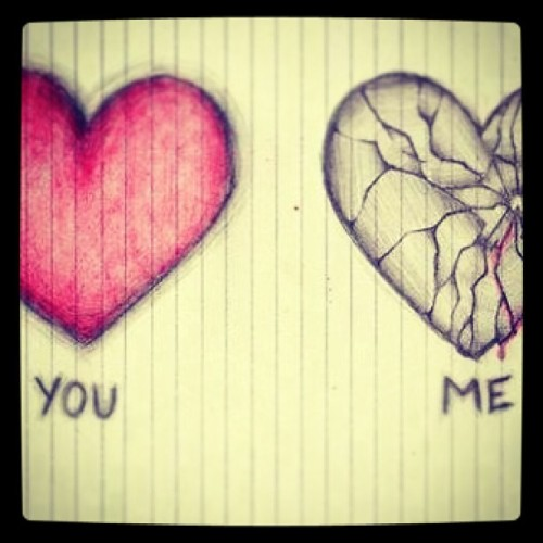 #heartbroken vs non-heartbroken