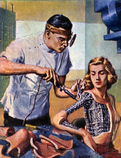 cyberpsychic:  Robots Repaired While U Wait by Ed Emshwiller