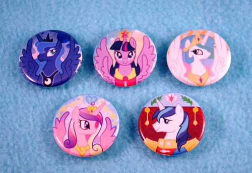 Royal Pony Buttons are finished and now in the store If this post gets over 100 notes I will do a giveaway