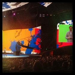Rainn Wilson (aka Dwight from The Office) is our host tonight #adobemax  (at Nokia Theatre)