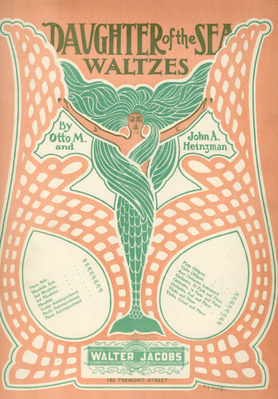 sailorgil: Daughter of the Sea — Waltzes …  Sheet Music, 1903  [Sailor Gil Collection]