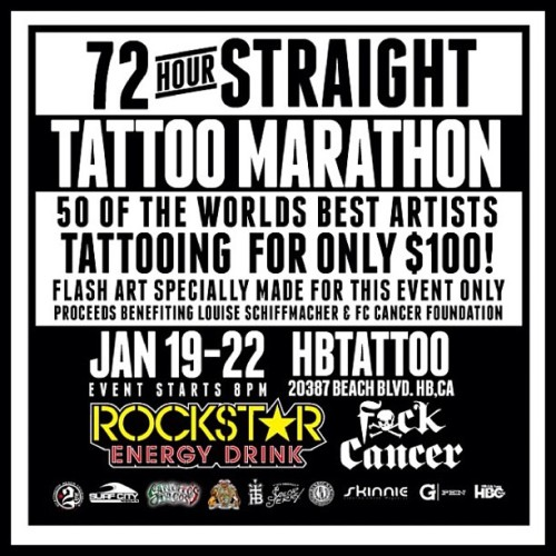 So Cal and surrounding friends If you're able to go get tattooed at this event do so, what's better than getting tattooed? Getting tattooed for a good cause! Pass it on!