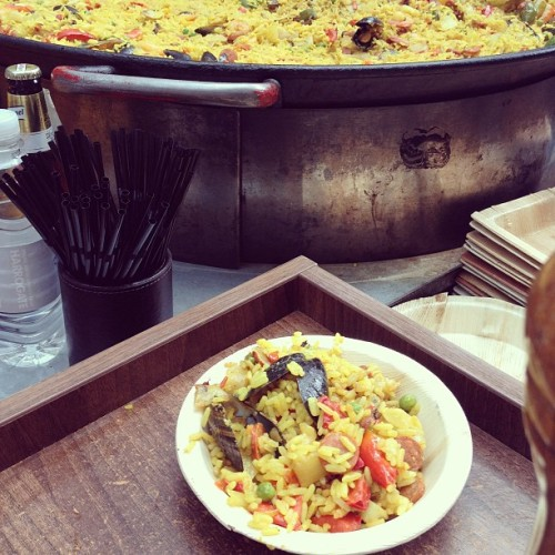 Thank you @joeylafox for the awesome #paella tasting! Only at #coventgarden :) #london town! (at Covent Garden)