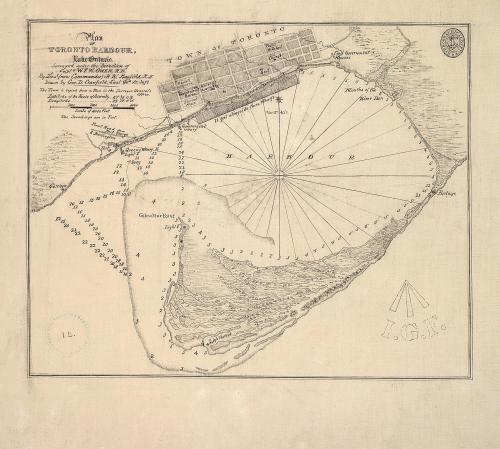 fuckyeahtoronto:  Map of Toronto Harbour in 1848 (before the big storm of 1858 separated the islands from the mainland)