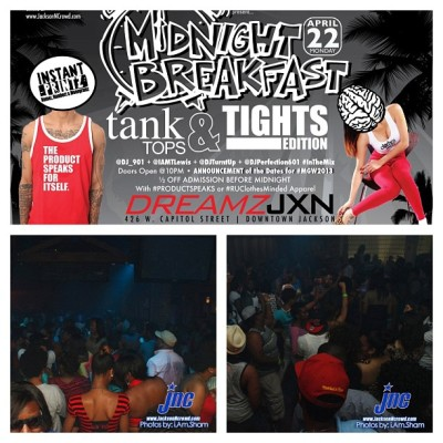 Check out @djshanomak at #midnightbreakfast tonight at @dreamzjxn! The dates for @msgreekweekend 2013 will be announced! #mgw2013