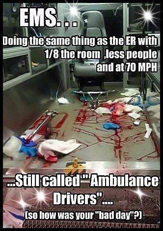 Happy EMS week to all the paramedics and EMTS (and all the -to-be's!)