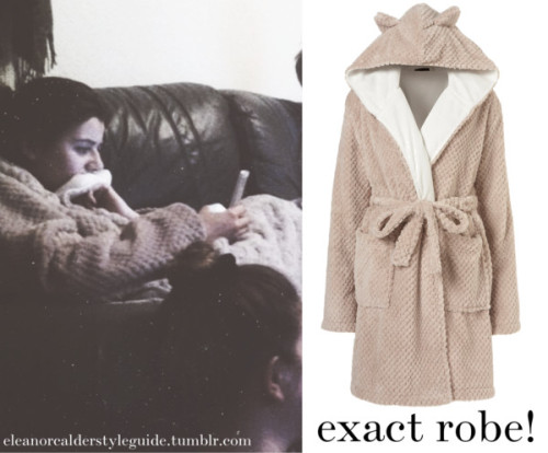 Eleanor watching Eurovision wearing this hooded robe!