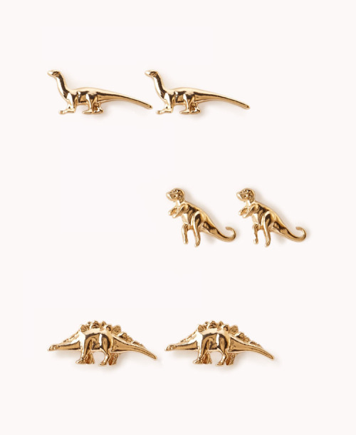 jaclynday:  Just ordered this dino stud earring set from Forever 21 for $2.80 because…duh.   ATTENTION BRYNNASAURUS! ATTENTION!