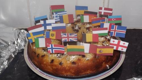 ask-hungary-irl:  My cake for Eurovision!  Final Tonight! WE ARE ONE! On the 18th of May, we will come together to celebrate the biggest song contest on earth. Will you join? Eurovision Song Contest 2013 Malmö, Sweden