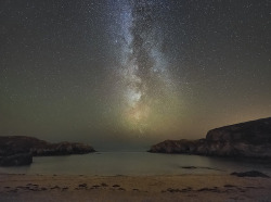 spacettf:  'Midnight Paddling' - Porth Dafarch, Anglesey by Kristofer Williams on Flickr.