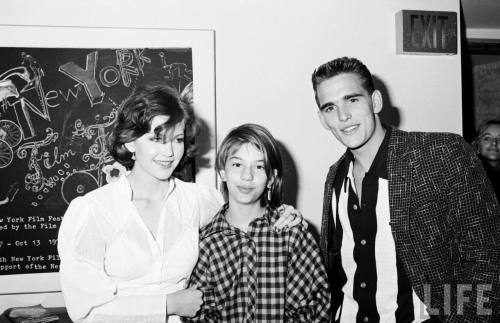 Diane Lane, Matt Dillon and Sofia Coppola at the Premiere of Rumble Fish. New York City, 1983.