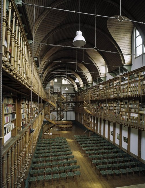 The Library of the Wittem Monastery in Wittem, The Netherlands