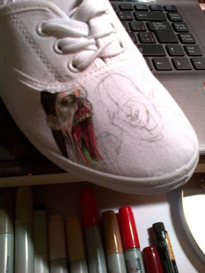 I am ruining perfectly good shoes :P