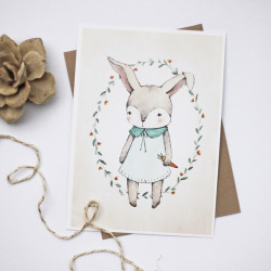 (via Kelli Murray's Blog » Blog Archive » FREE PRINTABLE EASTER BUNNY ILLUSTRATION)
