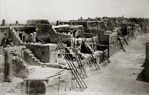 View in Acoma Pueblo New Mexico - ca 1885 Photo By: Ben Wittick Negative #016043