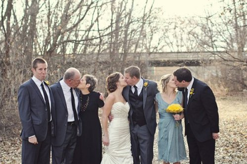 Guy Left Out of Wedding Kiss Picture He feels the love all around him. And it hurts.