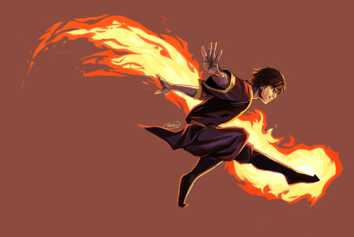 junryou:   fight fire with fire  Another old piece finally finished! FIRE FLAKES, Zuko was giving me such trouble in this painting. Lost count of how many times I re-painted his body. Regardless, it was fun working on it today! Photoshop CS5 | Wacom Intuos3 tablet | 8-10 hours?[ WIP 1 ] | [ WIP 2 ] | [ WIP 3 ]