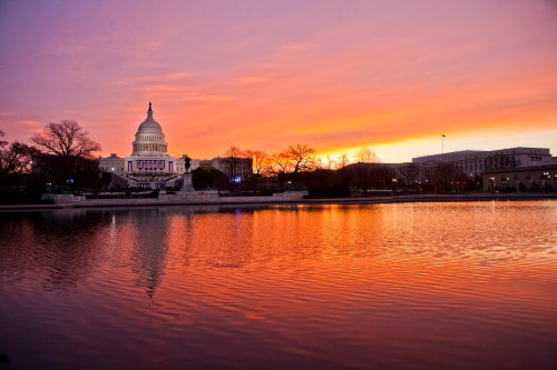 Inauguration Day sunrise (Photo: Anthony Quintano / NBC News)