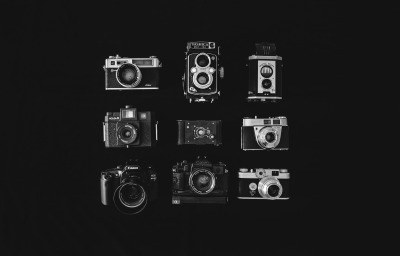 Analog camera collection. 2 May 2013.