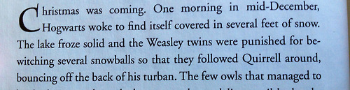 Casual holiday reminder that the Weasley twins once bewitched snowballs to repeatedly hit Voldemort in the face.  Trololol