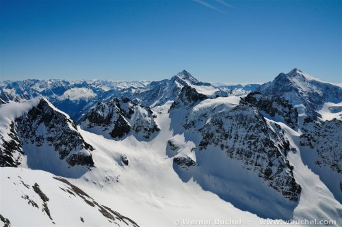 Swiss Alps seen from Titlis. Panorama