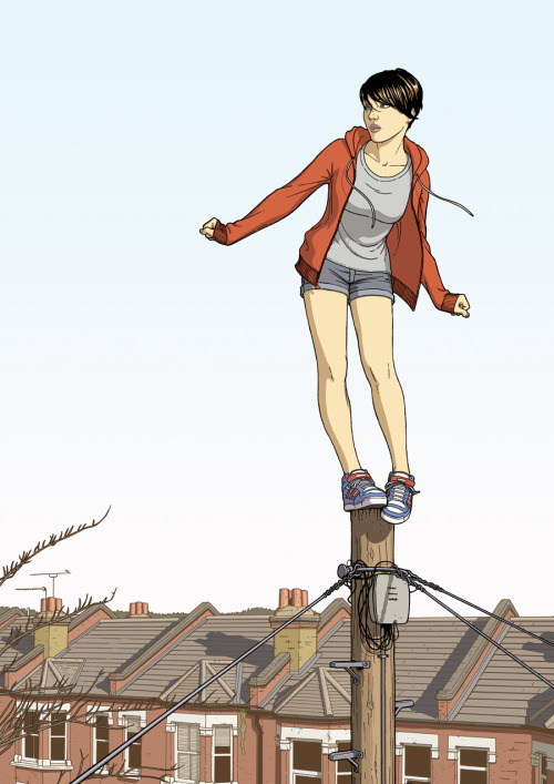 """ Lovers ""        ""   Balancing Girl  ""  by  Jamie McKelvie  Thank you to   Jamie for posting this wonderful graphic."