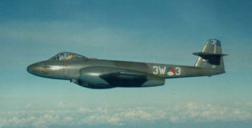 Today Wings of War looks at the jet fighters of the Royal Netherlands Air Force (Koninklijke Luchtmacht) of the 1950s and 1960s. First up, the Gloster Meteor F.8, licensed built by Fokker.