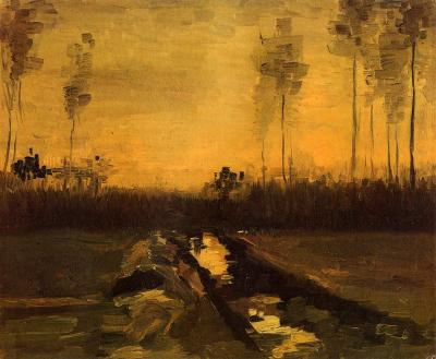 intrepid-android:  Vincent van Gogh - Landscape at Dusk