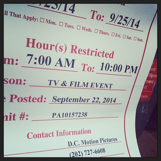 """Wonder what the """"film & tv event"""" is?  (at 7th and I Streets)"""