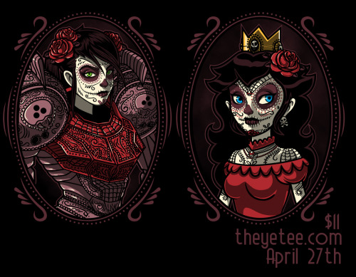 My Peach and Samus Skull Girl designs are up on http://theyetee.com/ for $11!