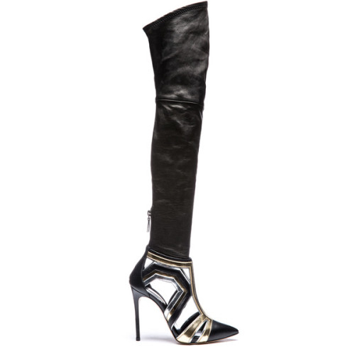 polyvore fashion shoes boots black thigh high boots over the knee stiletto boots stretch boots black thigh boots over the knee boots