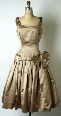 Cocktail Dress, House of Dior, French, F/W 1954-55, silk