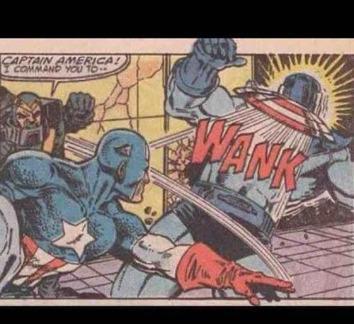A little encouragement for Captain America…
