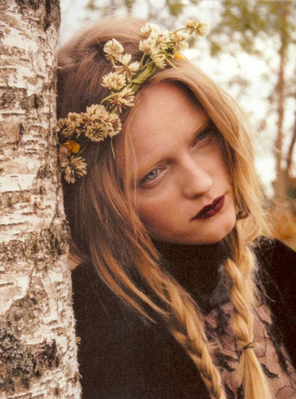 "stopdropandvogue:  Vlada Roslyakova in ""Römance And Löve"" for Numéro Tokyo September 2011 photographed by Lina Scheynius"