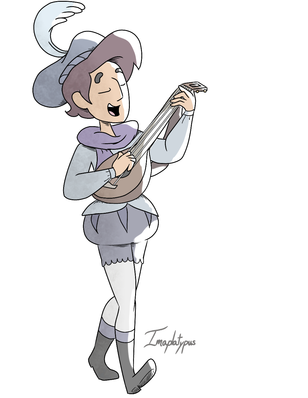 Jamie dressed as Ruberiot the songstrel Because Ruberiot's outfit reminded me of the outfit Jamie wore in Love Letters(I do believe that steven was imagining him in it but whatever)lol