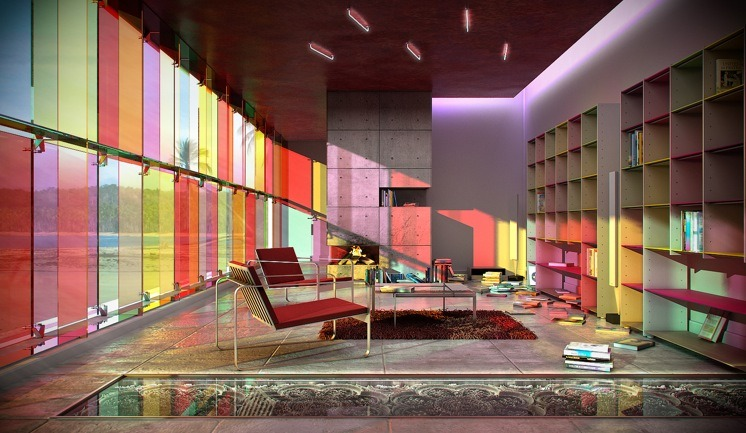 homedesigning:  Library Colorful