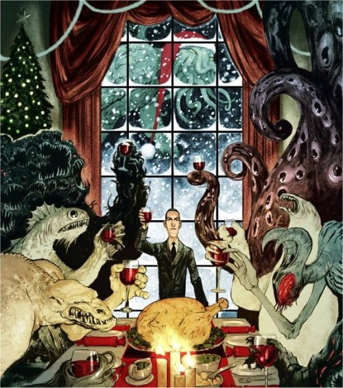 hplovescrafts:  Merry Cthulhumas Everyone!(Art by Neil Evans)