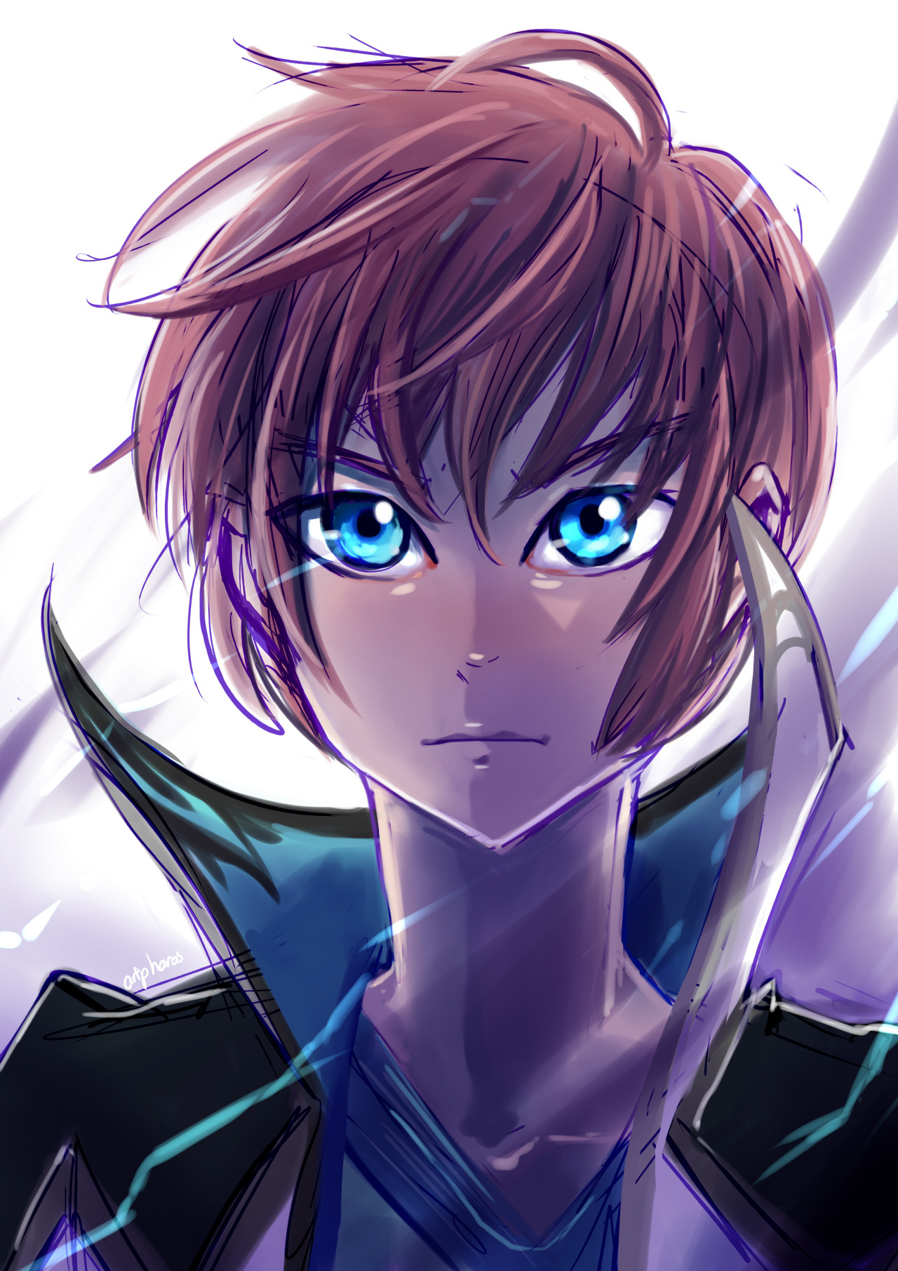For the Tales 60 min draw on twitter, 09/01/2021    For the theme of 'Blue'. It struck like lightning. #tales of graces #asbel#asbel lhant