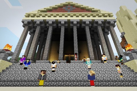 MinecraftEdu Teaches Students Through Virtual World-Building  A New York City school teacher has crafted a version ofMinecraft for schools called MinecraftEdu. Given the sandbox indie game's simple premise — a pixelated world of blocks that users manipulate with tools — plus the ability to add customizable maps, educators can drop students into a world of ancient cultures, Chemistry, English, and more. MinecraftEdu creator Joel Levin, who teaches second-grade computer classes at Columbia Grammar and Preparatory School in New York City and runs a Minecraft club for high schoolers, has been incorporating Minecraft into his classes for the past two years.  There's an awesome video in the article where an instructor uses Minecraft in a clever way to demonstrate the difference between solids, liquids, and gasses.