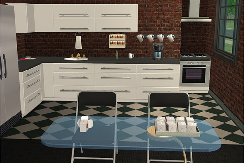 Trying to get used to using Gadwin by playing about with Don Lothario's kitchen. This is far too much fun! Does this look too sharpened, though?