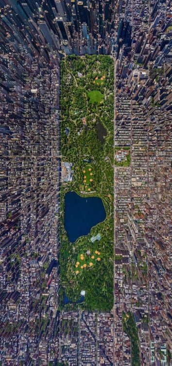 New York City - Central Park aerial photograph by Sergey Semenov