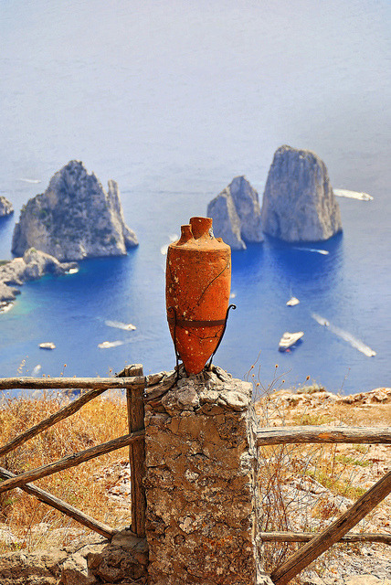 napolisclera:  Anacapri by ragingwire on Flickr. Capri and Faraglioni
