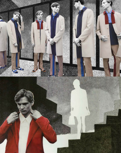 wetheurban:   #FASHION: PRADA REAL FANTASIES SS13 LOOKBOOK For the SS 2013 Prada Real Fantasies lookbook - artwork by Lok Jansen and Jeroen Koolhaas - Prada experiments a multi-faceted collage of hand-drawn and painted shapes, casting the shadows that they project.  Read More
