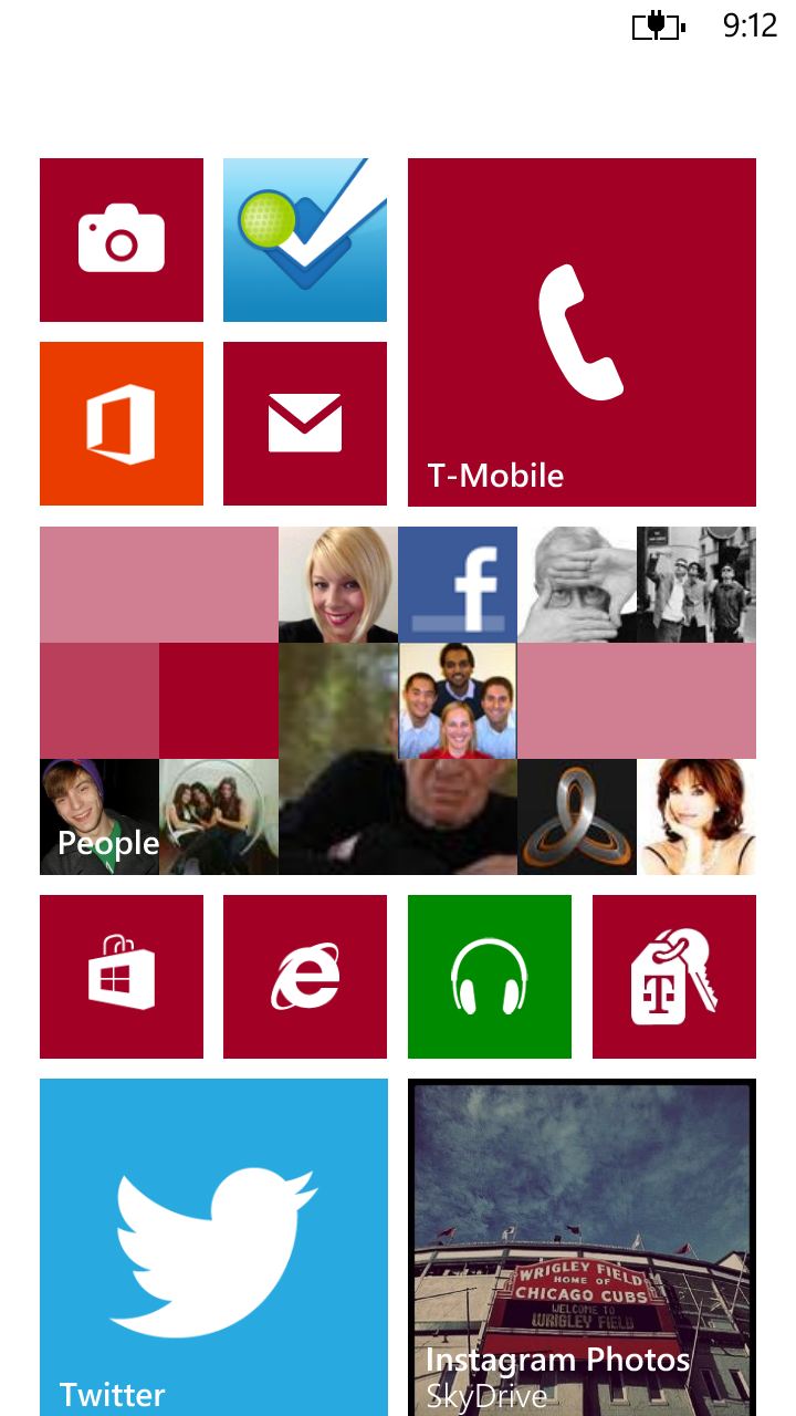 I love the tiles in windowsphone #windowsphone