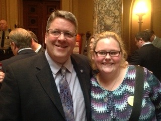 Maddy spoke to Senator Dahle, her former high school civics teacher, about the need for the Homeless Youth Act and how she had accessed help when she needed it.