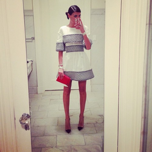 ourvanityaffair:  Giovanna Battaglia going to Chanel Dinner, Tribeca Film Festival