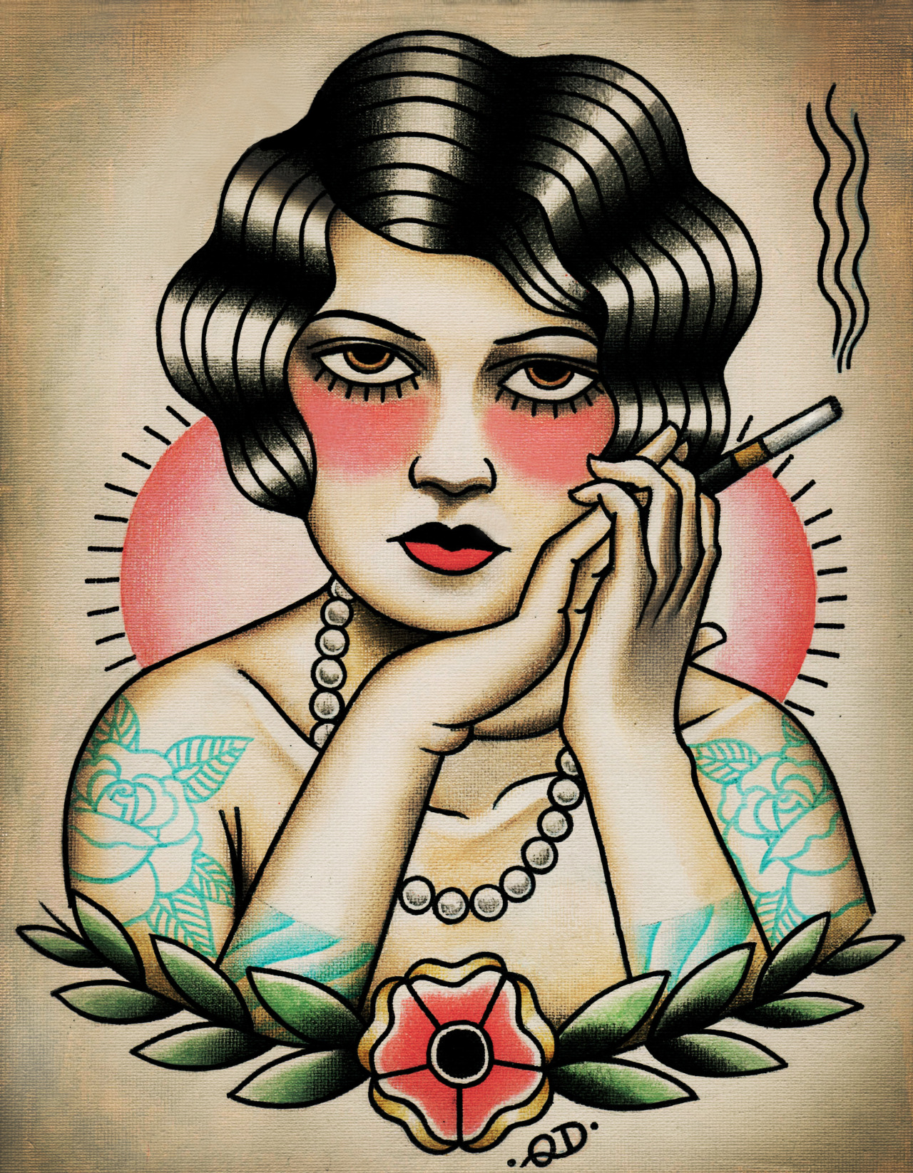 New Smoking Flapper print on Etsy Quyen Dinh