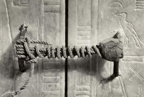 historical-nonfiction:  The unbroken seal on King Tut's tomb.