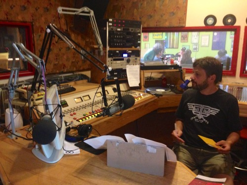I assume you're all fans of David Naimon's excellent interview podcast? I just spent the morning in his studio at KBOO, where he kindly promised to cut out all of my gaffs and replace them with smart lines by some of his other interview subjects, such as Gary Shteyngart, Karen Russell, Lorrie Moore, George Saunders, Kyle Minor, Helen Oyeyemi, and Matt Bell. Awesome.I'll sound brilliant, I'm sure, if a little odd talking in all those pretty voices. Also: He claimed to know what every single one of those buttons did, though it was weird how he raised and lowered his chair pneumatically throughout the interview. Anyway! Thanks, David! They were great questions. Interview comes out September 11th.